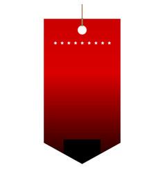 empty sale label vector image