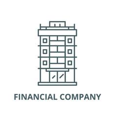 financial company line icon linear concept vector image