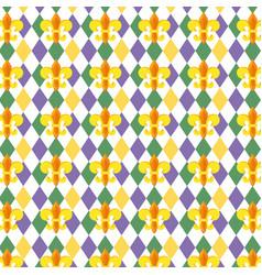fleur de lis background vector image