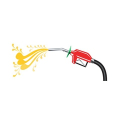 Fuel Pump Nozzle Side Retro vector image