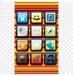 Funky Cartoon Phone Apps vector image