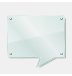Glass Speech Bubble vector image