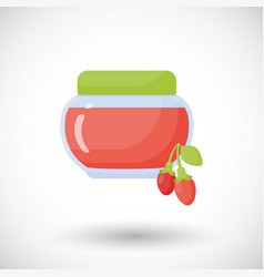 goji berry jam flat icon vector image