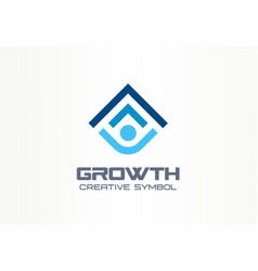 growth creative symbol concept human professional vector image