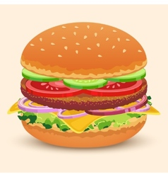 Hamburger sandwich print vector