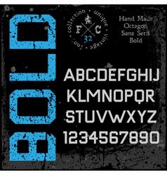 Handmade retro font Sans serif vector