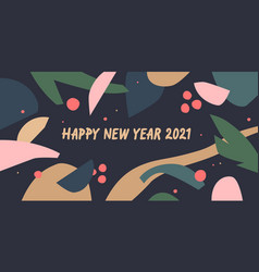 happy new year 2021 a composition with abstract vector image