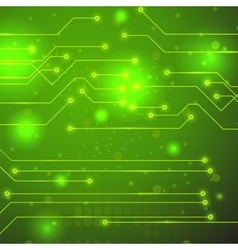 High tech printed circuit board vector