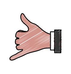Human hands design vector