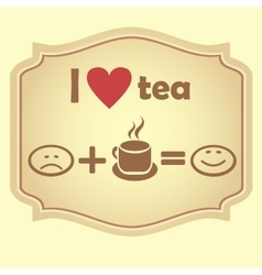I love tea Retro icon vector image