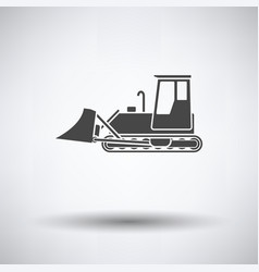 icon of construction bulldozer vector image