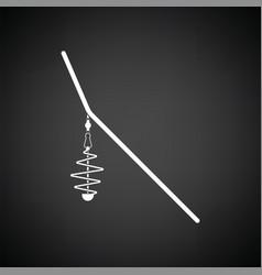 Icon of fishing feeder net vector