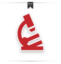 Image a red microscope icon vector