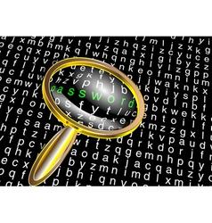 internet password vector image