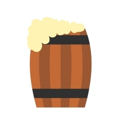 Keg of beer flat icon vector image