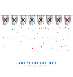 Korea republic independence day template design vector