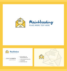 letter logo design with tagline front and back vector image