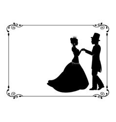 loving couple in period costumes vector image
