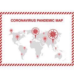 Map novel coronavirus covid-19 vector