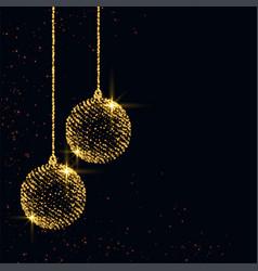 Merry christmas sparkles xmas ball background vector