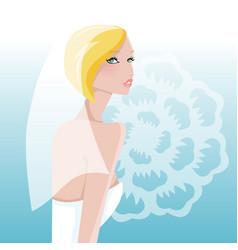 Modern bride vector