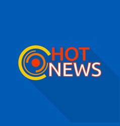 new hot news logo flat style vector image