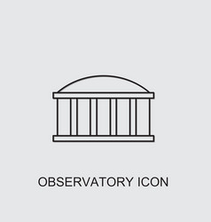 Observatory icon vector