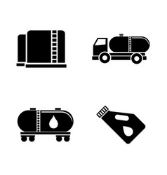 oil industry simple related icons vector image