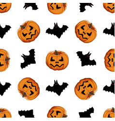 On theme big colored pattern halloween vector