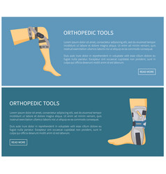 Orthopedic tools fixators set colorful poster vector