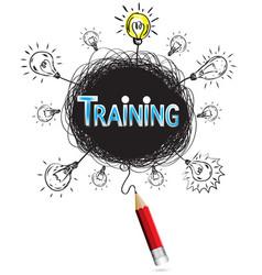 pencil idea isolate write blue training business vector image