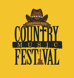 Poster for a festival country music vector