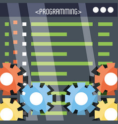 Programmig and coding concept language vector