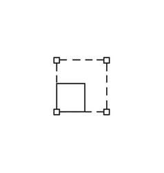 Resize icon vector