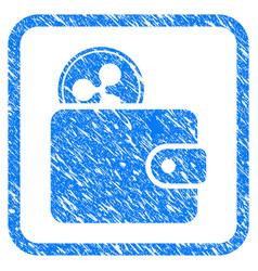 ripple billfold framed stamp vector image
