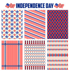 seamless pattern for fourth of july background for vector image