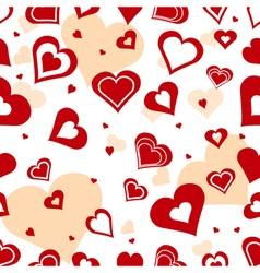 Seamless romantic background vector