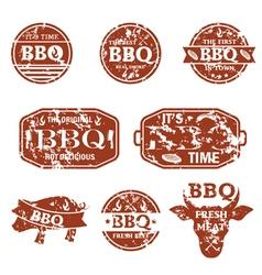 Set of bbq labels vector