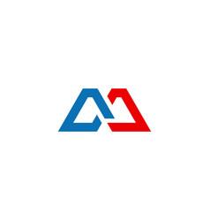shape line initial geometry company logo vector image