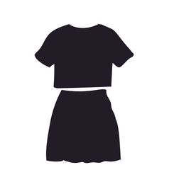 skirt with t-shirt silhouette vector image