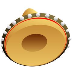 Sombrero mexican straw hat for cinco de mayo vector