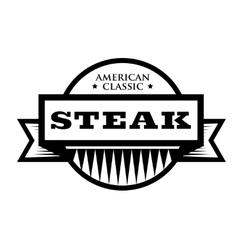 Steak - American Classic vintage stamp vector