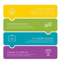 steps process business colorful vector image