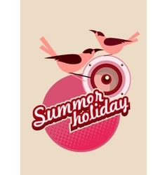 Summer holiday flyer vector