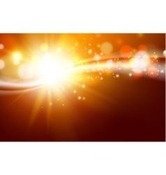 Sun sparkle over dark space vector image