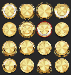 Super glossy collection of golden retro vintage vector