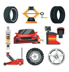 Tires service vector