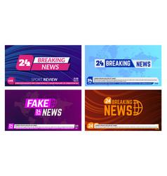 Tv news banners breaking news banner headline vector