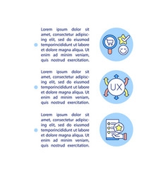 ux relevance concept line icons with text vector image