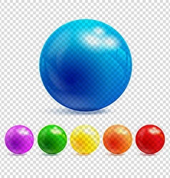 3d transparency sphere vector image